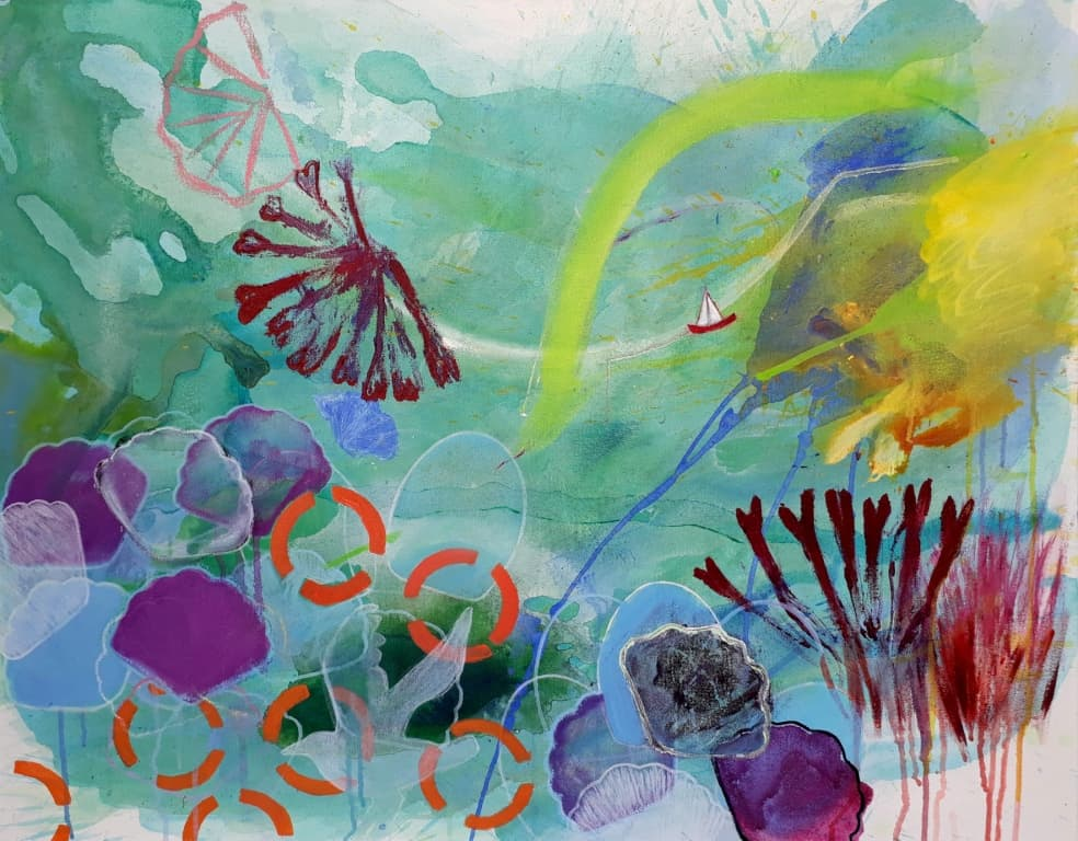 Sea Garden I. Painting 70x90cm